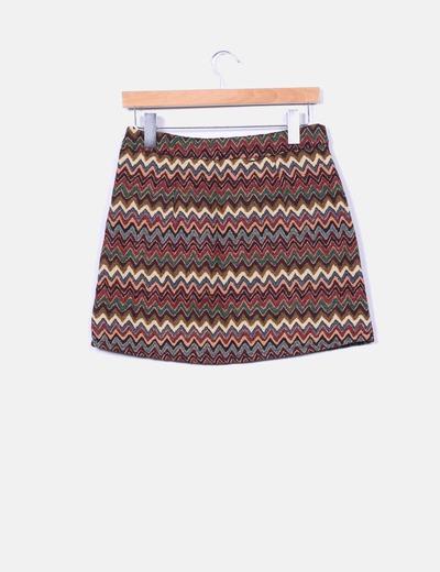 Mini falda rooibos tea multicolor