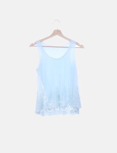 Camiseta azul gasa