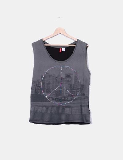 Camiseta combinada print H&M