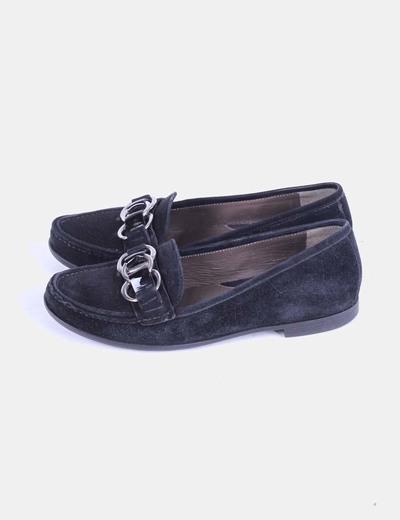 Zapato negro de ante Geox
