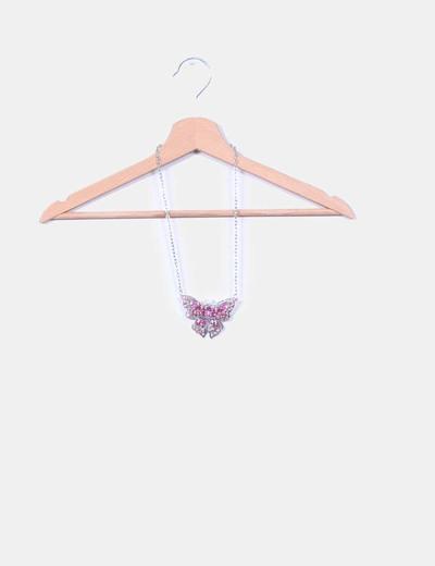 Collar mariposa con strass NoName