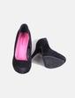 Zapato negro antelina con plataforma Atmosphere