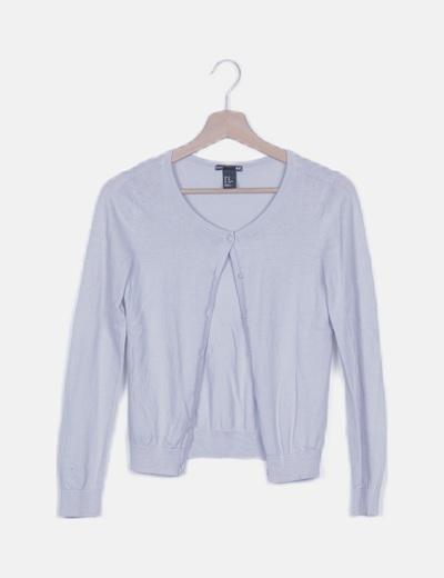 Chaqueta tricot azul claro