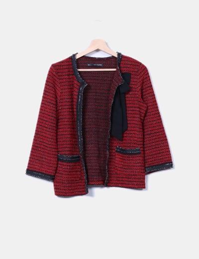 Sfera Roja Micolet Tweed descuento 71 Desflecada Chaqueta wqSAp