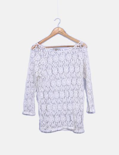 Camiseta crochet blanca