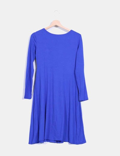 Vestido azul manga larga