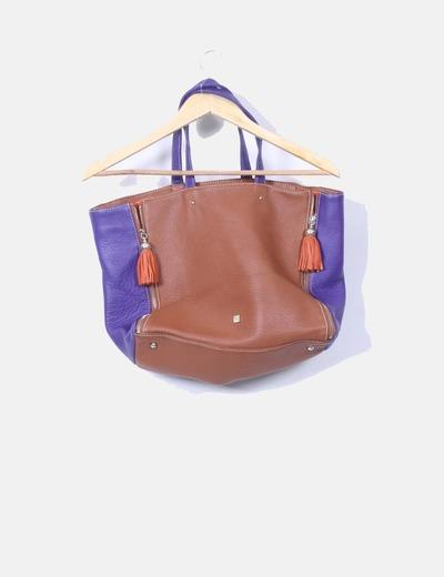 Maxi bolso tricolor