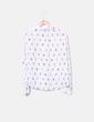 Camisa blanca print polillas NoName