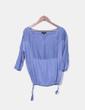 Blusa azul satinada Adolfo Dominguez