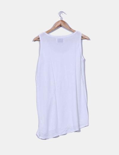 Camiseta blanca de tirante ancho
