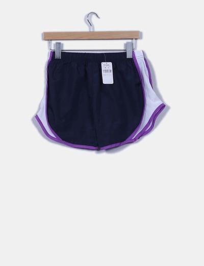 Pantalon corto de deporte tricolor