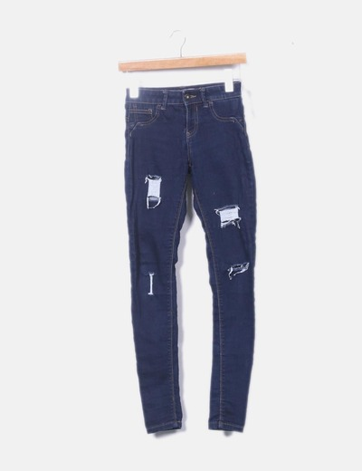 Jeans denim oscuro ripped
