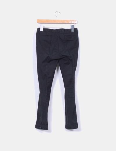 Pantalon de pinzas pitillo negro