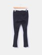 Pantalón de pinzas pitillo negro Zara