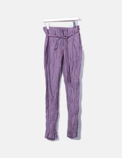 Pantalón recto morado