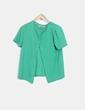Chaqueta tricot verde texturizado Pull&Bear