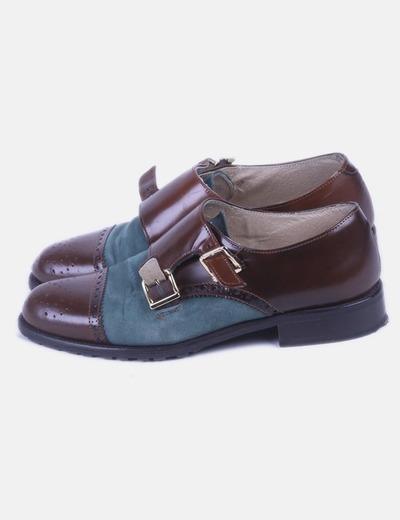 Y Marrón Verde Y Combinado Verde Zapato Combinado Zapato L4Aj35R