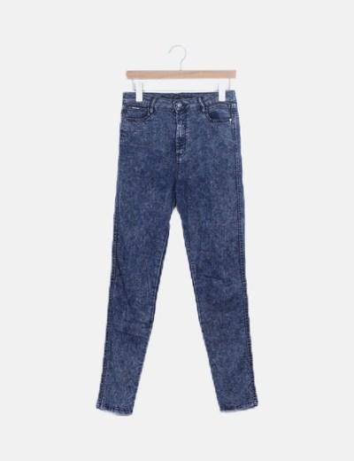 Jeans skinny efecto desgastado high waist