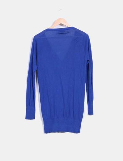 Cardigan azul klein largo