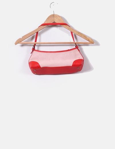 Bolso mini rojo y blanco