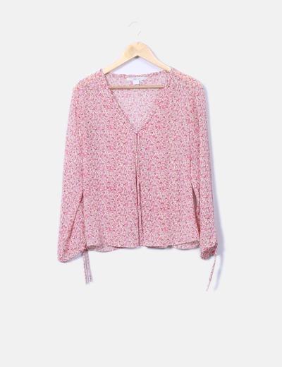 Blusa de gasa floral Zara