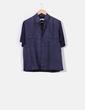 Camisa combinada azul marina   Emidio Tucci