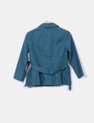 Blazer verde texturizada