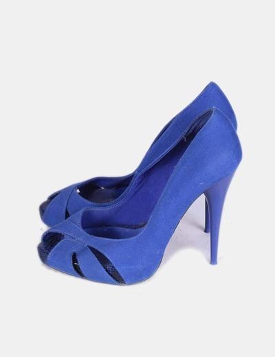 Zapatos Tacon Azul Klein