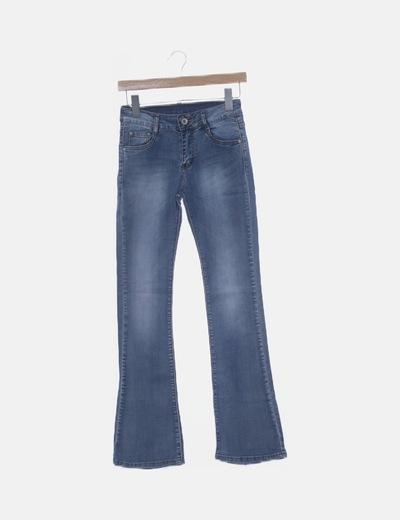 Jeans denim boot azul claro