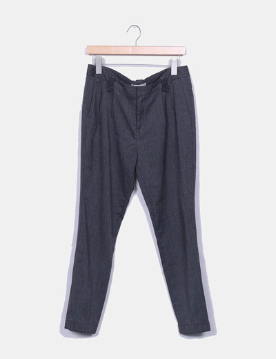 Pantalon pitillo gris jaspeado Lefties
