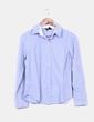 Camisa azul de rayas Zara