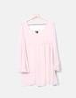 Vestido rosa palo con encaje Topshop