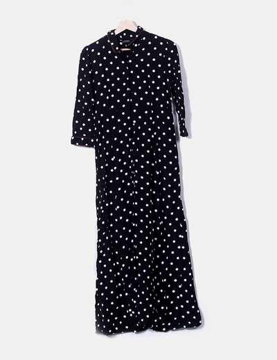 Maxi Topos 56Micolet Vestido Negro Blancosdescuento Zara yvYb7mfI6g