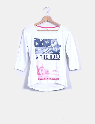 Top blanco print Inside