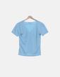 Camiseta azul clara cruzada Decathlon