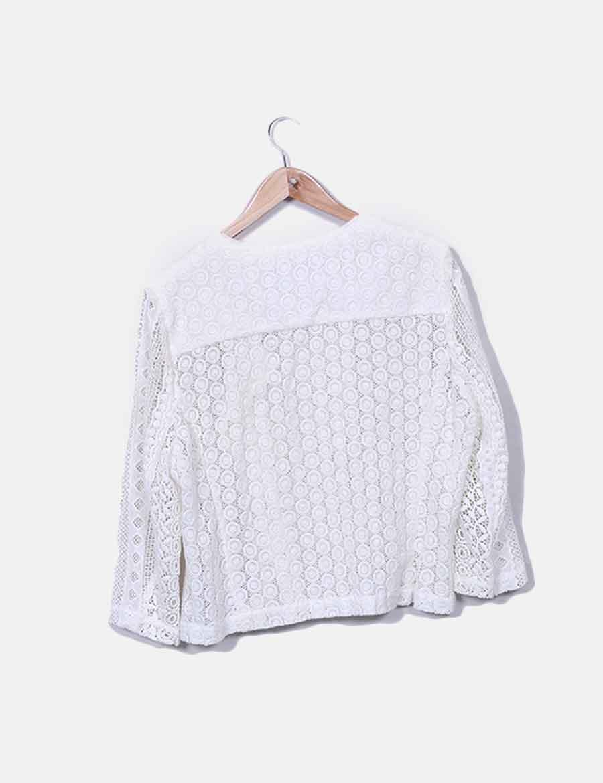 5d996ecd425 Y De Blanca Etam Chaqueta Crochet Online Mujer Abrigos Chaquetas P4xqwff