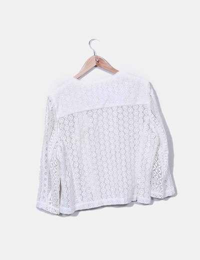Chaqueta blanca crochet