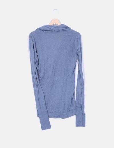Jersey azul grisaceo punto fino