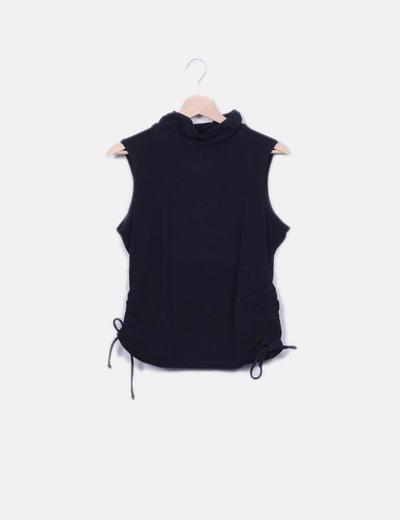 Camiseta negra manga sisa Tex