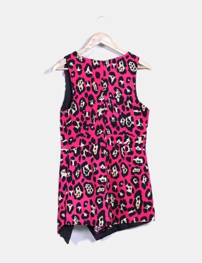 Vestido rosa fucsia print animal