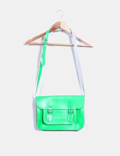 Bolso satchels verde flúor