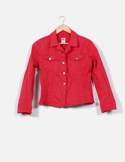 ba1bb6a6e711b Cimarron Chaqueta vaquera roja de botones (descuento 86%) - Micolet