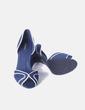 Zapato de tacón azul con el filo blanco  Tintoretto