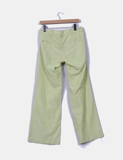 Pantalon verde pistacho de lino