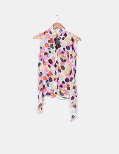 Blusa estampado topos multicolor
