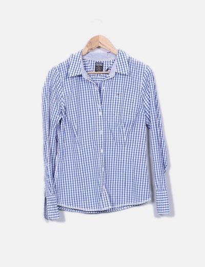 Camisa de cuadros azul y blanco Tommy Hilfiger