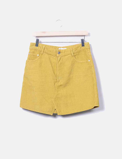 Minifalda pana pistacho