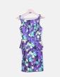 Vestido morado floral con peplum Primark