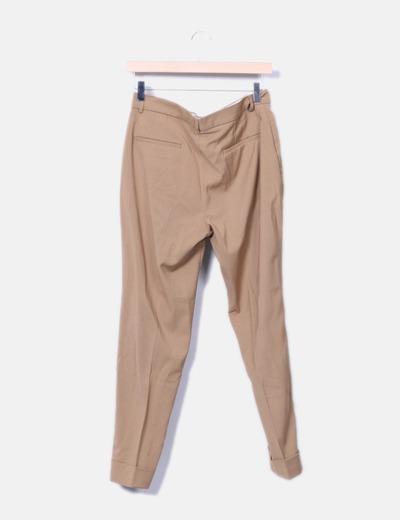 Pantalon de pinzas camel