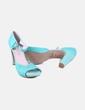 Zapato tacón verde JHESU